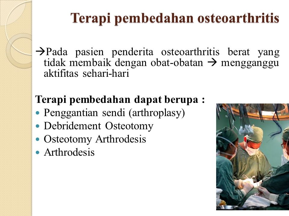 Terapi pembedahan osteoarthritis