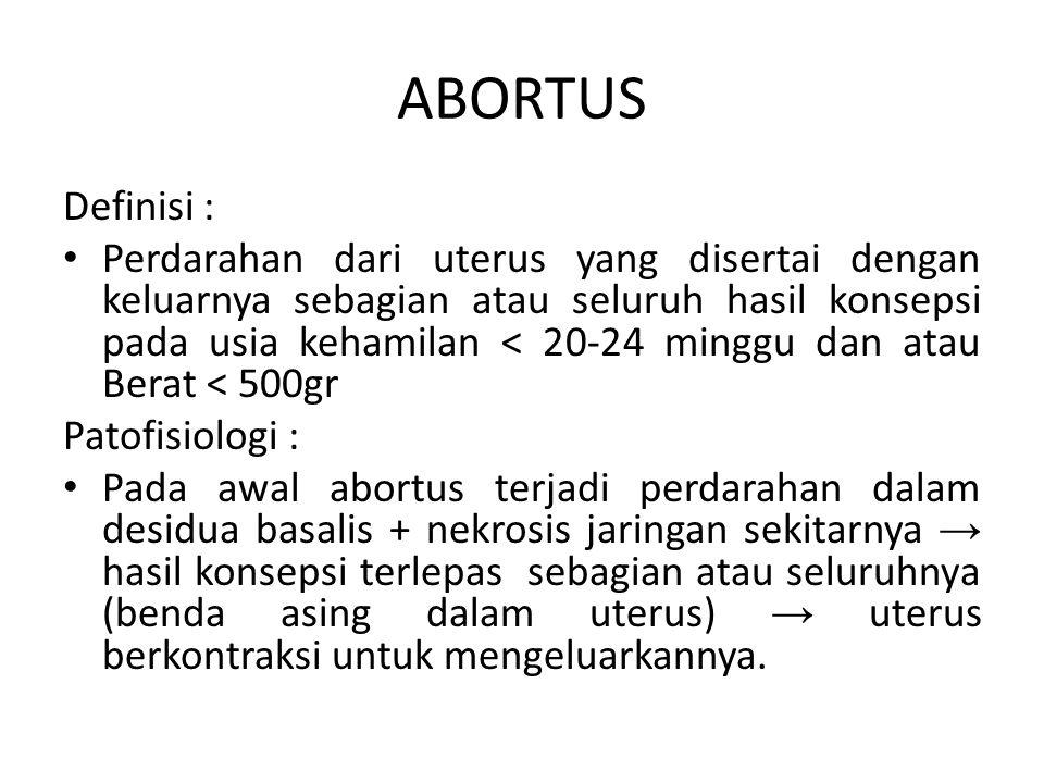 ABORTUS Definisi :