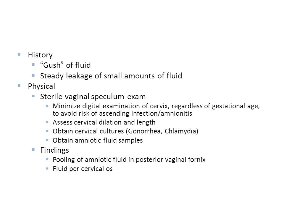 Steady leakage of small amounts of fluid Physical