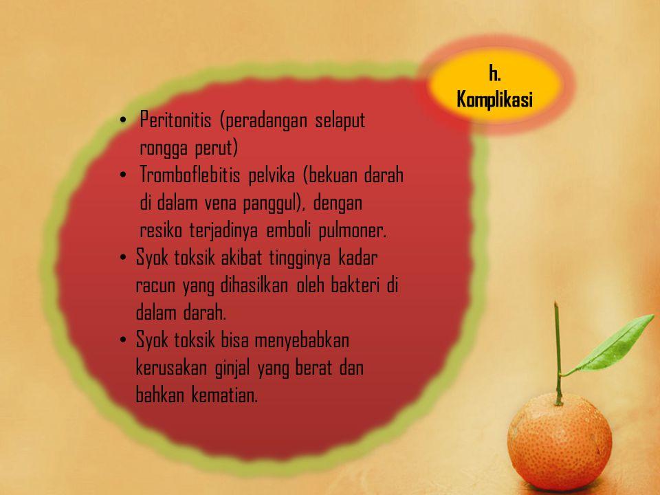 Peritonitis (peradangan selaput rongga perut)