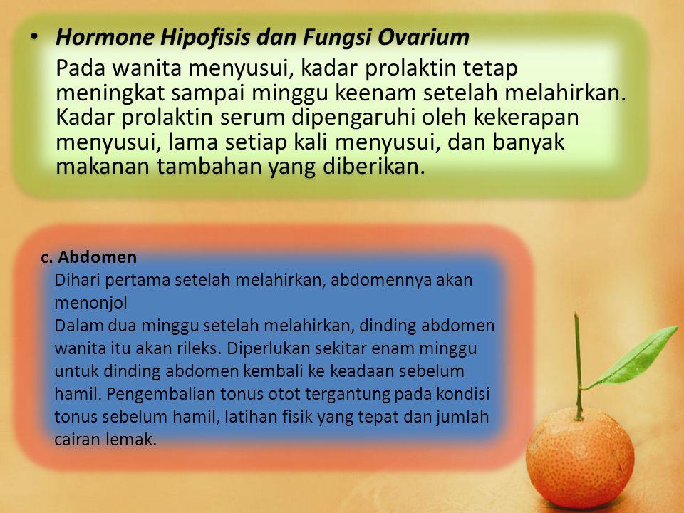Hormone Hipofisis dan Fungsi Ovarium