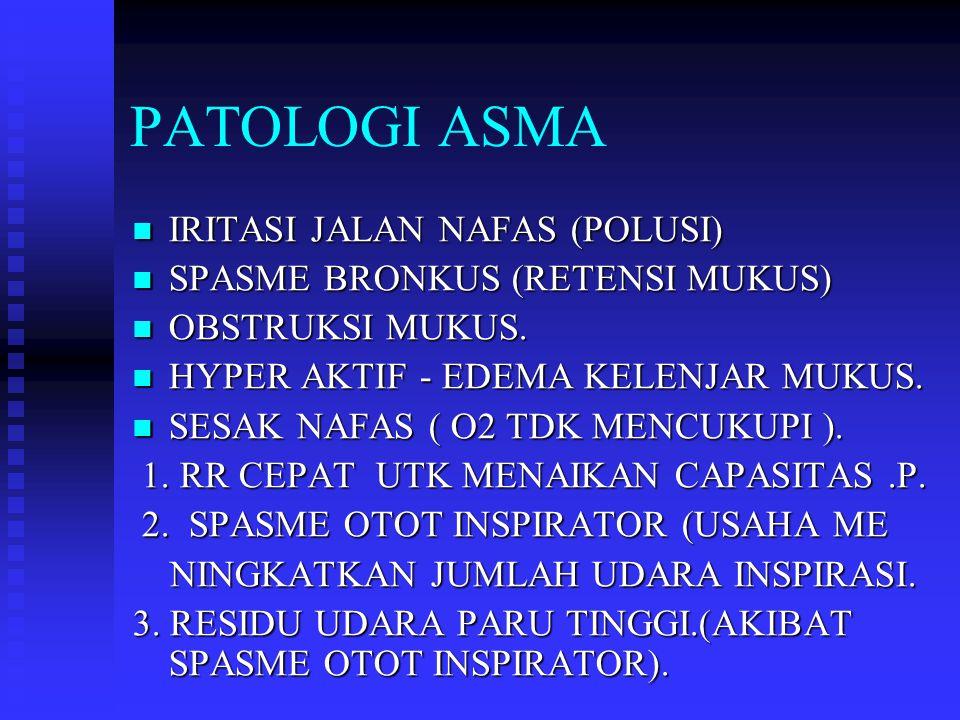 PATOLOGI ASMA IRITASI JALAN NAFAS (POLUSI)