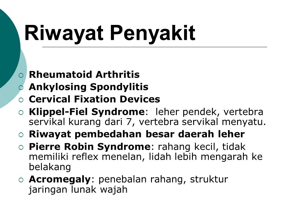 Riwayat Penyakit Rheumatoid Arthritis Ankylosing Spondylitis