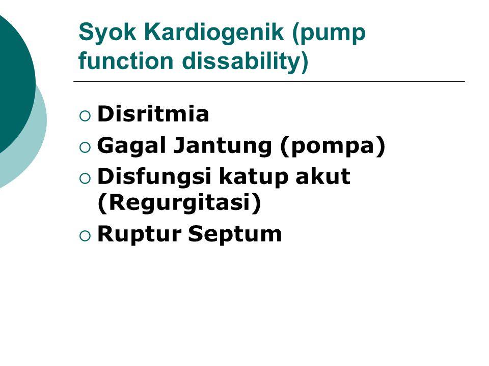 Syok Kardiogenik (pump function dissability)
