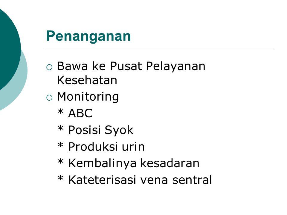 Penanganan Bawa ke Pusat Pelayanan Kesehatan Monitoring * ABC