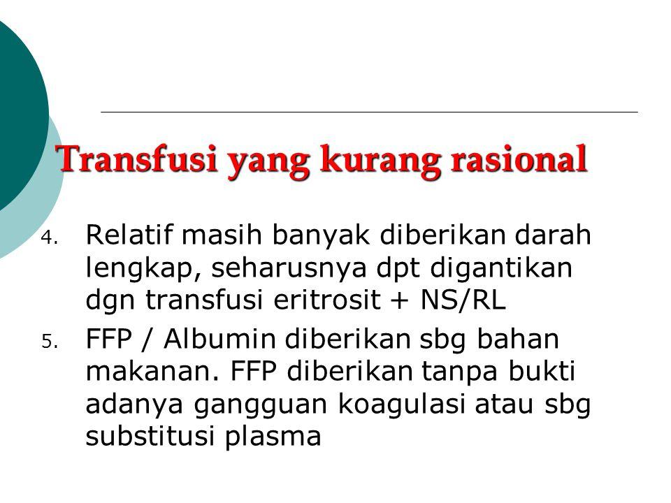 Transfusi yang kurang rasional