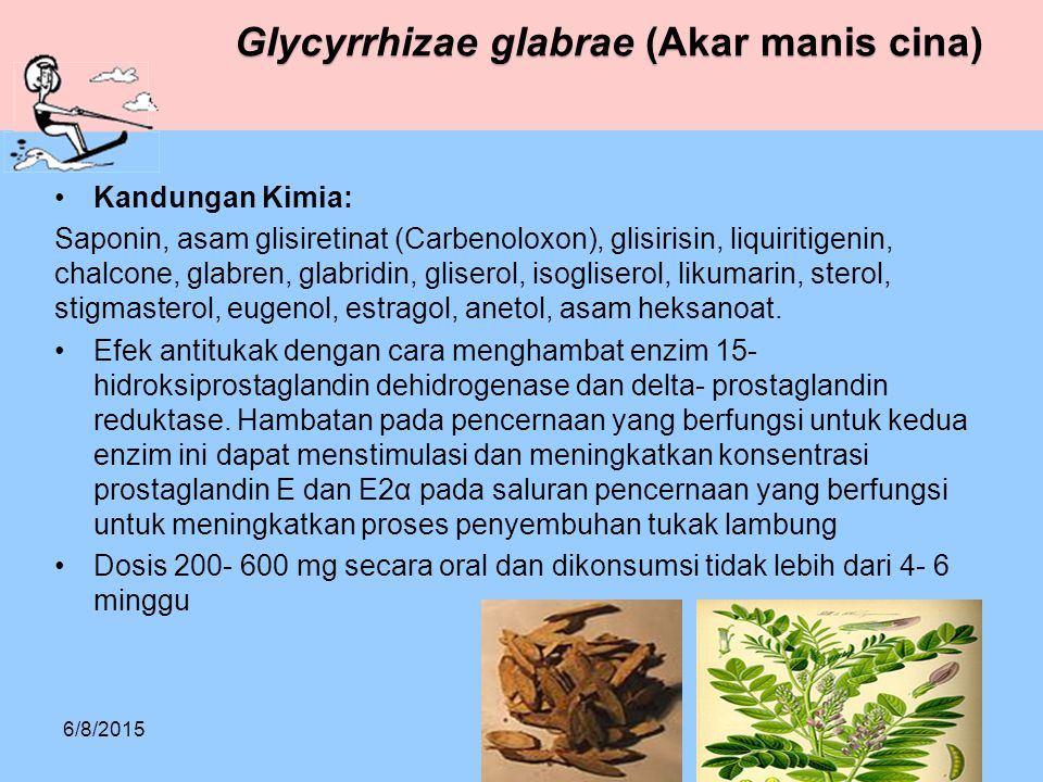 Glycyrrhizae glabrae (Akar manis cina)