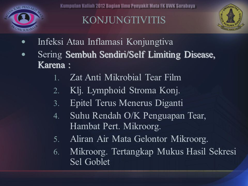 KONJUNGTIVITIS Infeksi Atau Inflamasi Konjungtiva
