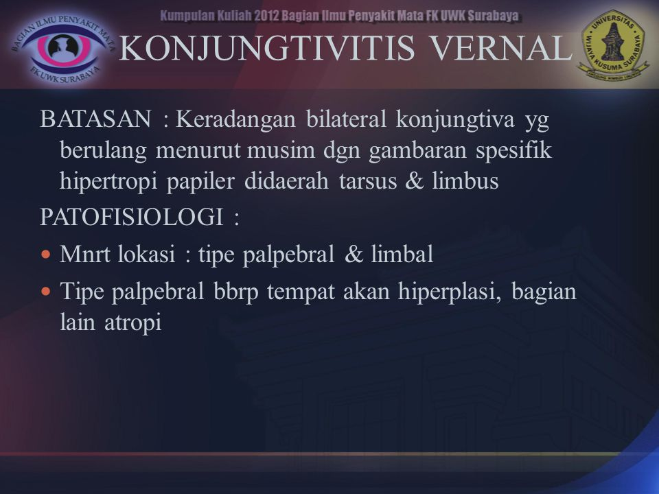 KONJUNGTIVITIS VERNAL