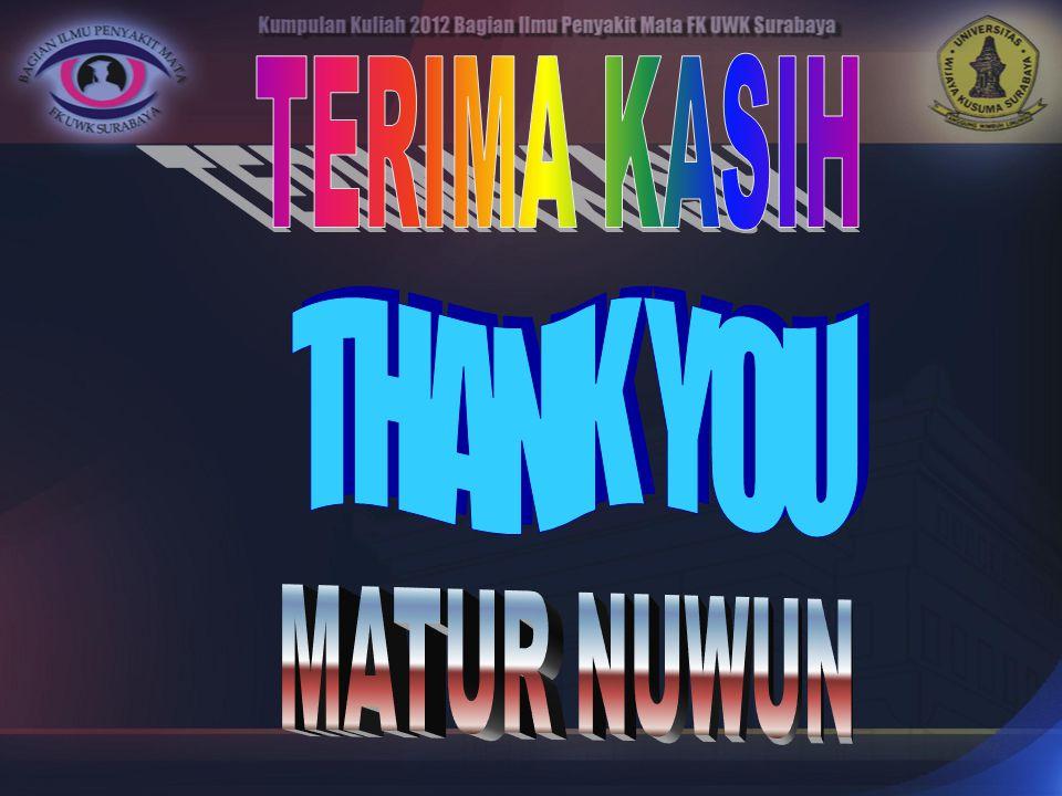 TERIMA KASIH THANK YOU MATUR NUWUN