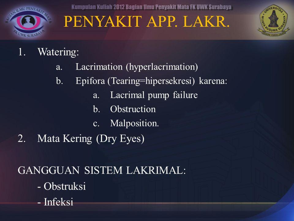 PENYAKIT APP. LAKR. Watering: Mata Kering (Dry Eyes)