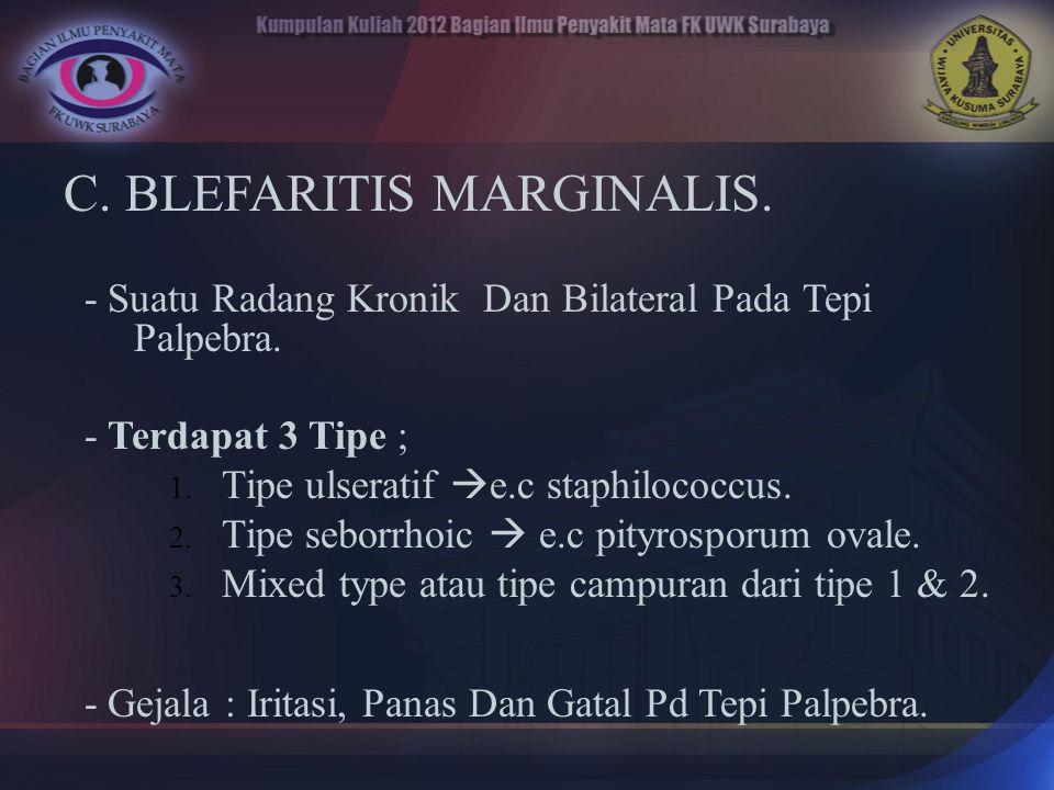 C. BLEFARITIS MARGINALIS.
