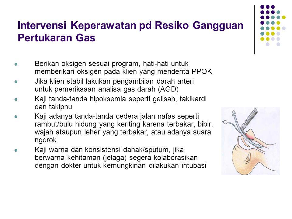 Intervensi Keperawatan pd Resiko Gangguan Pertukaran Gas