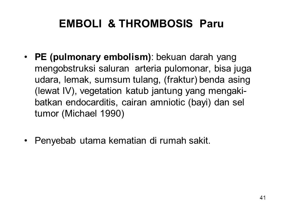 EMBOLI & THROMBOSIS Paru