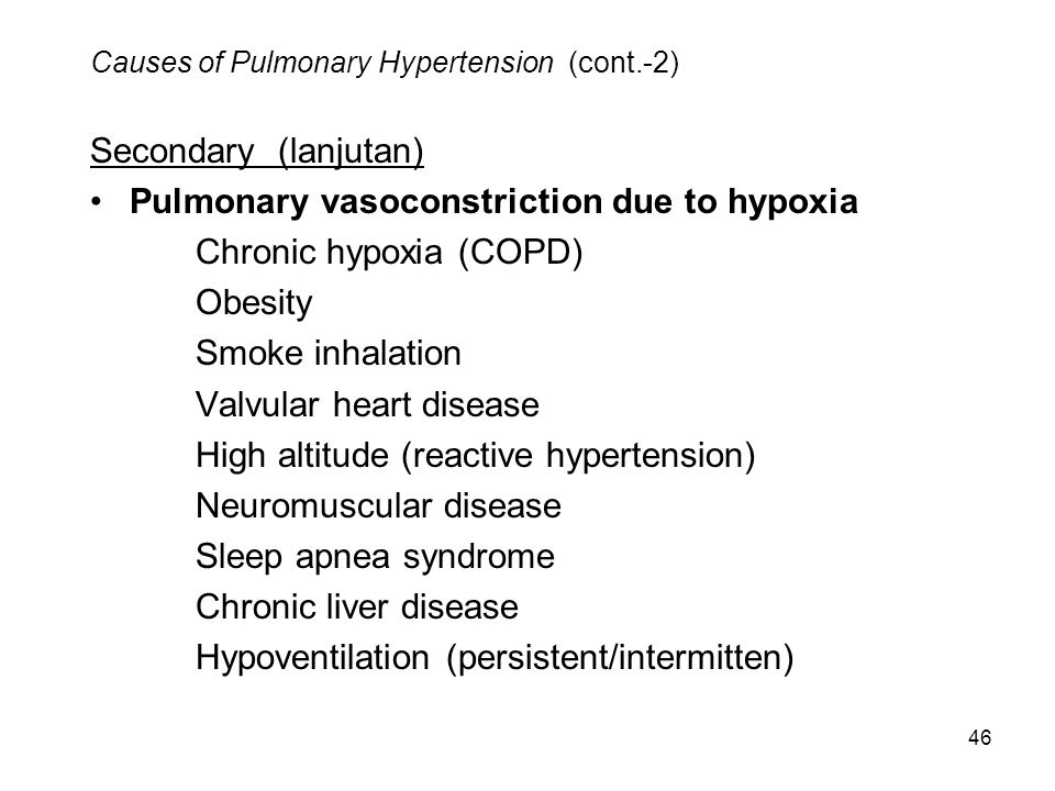 Causes of Pulmonary Hypertension (cont.-2)