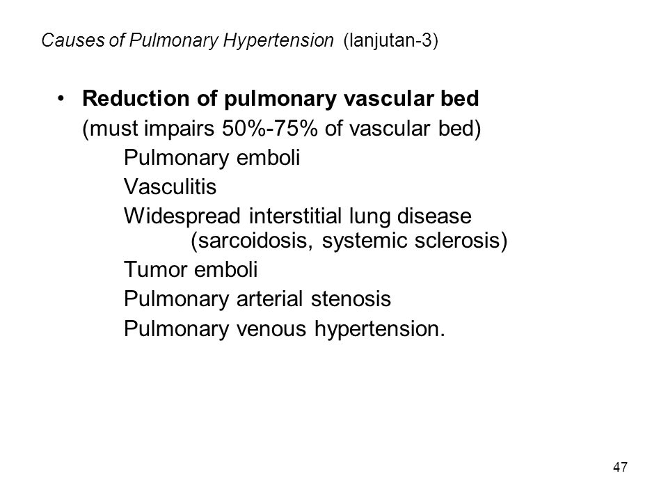 Causes of Pulmonary Hypertension (lanjutan-3)