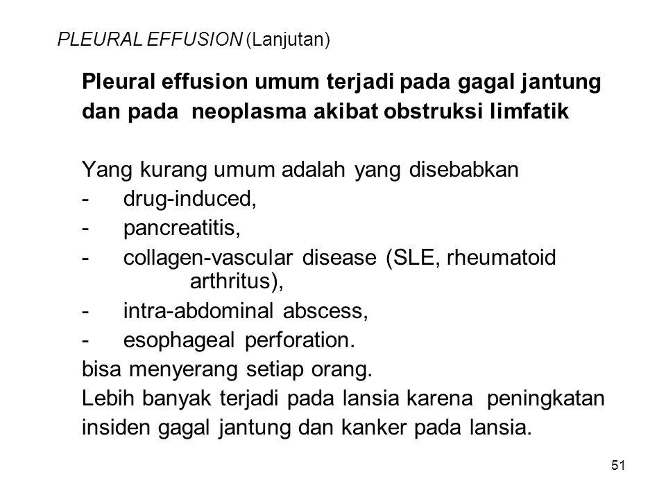 PLEURAL EFFUSION (Lanjutan)