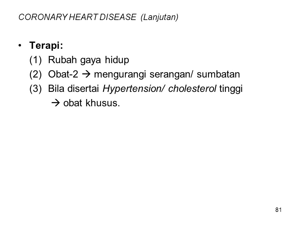 CORONARY HEART DISEASE (Lanjutan)
