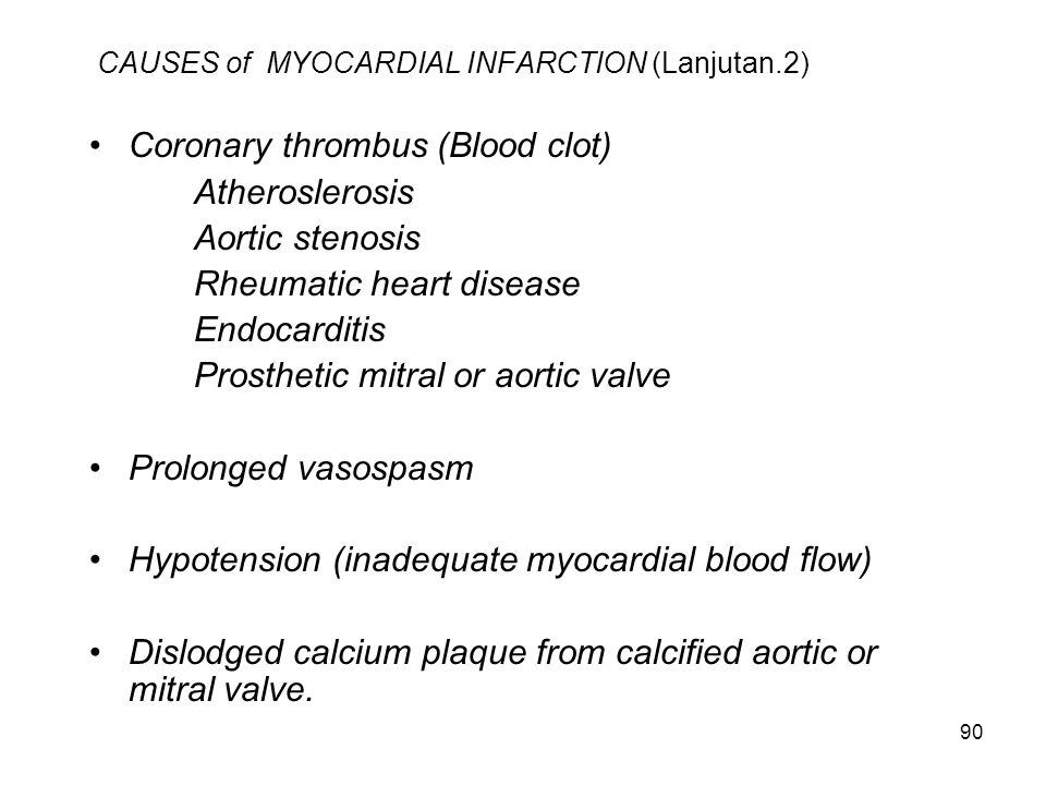 CAUSES of MYOCARDIAL INFARCTION (Lanjutan.2)