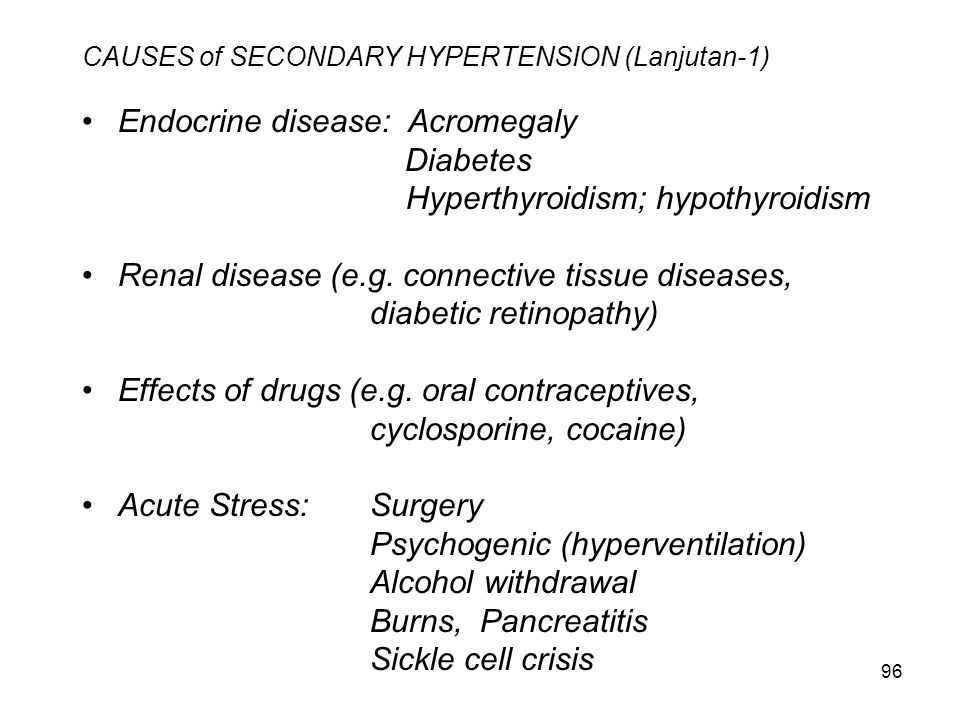 CAUSES of SECONDARY HYPERTENSION (Lanjutan-1)