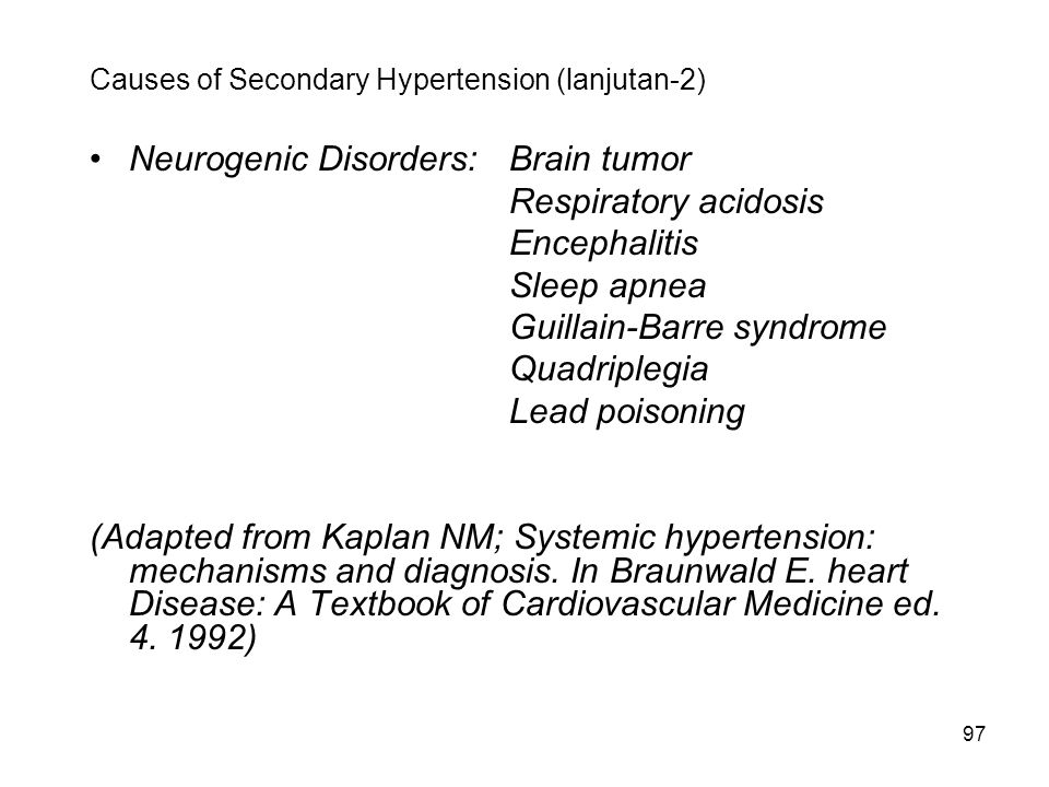 Causes of Secondary Hypertension (lanjutan-2)