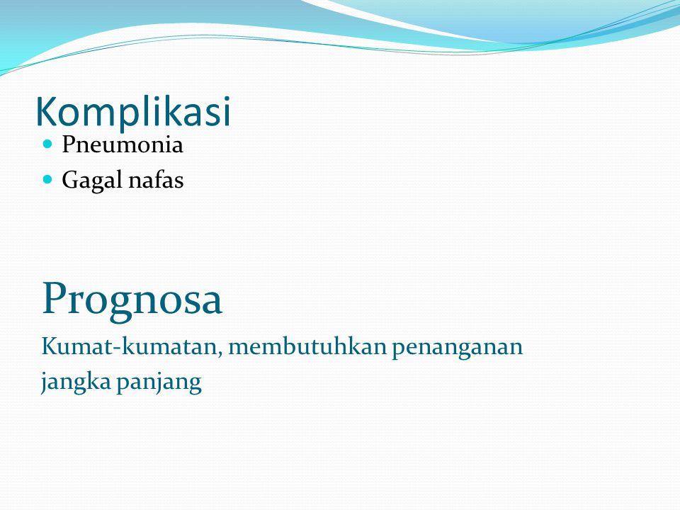 Komplikasi Prognosa Pneumonia Gagal nafas