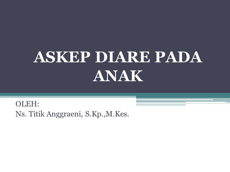 OLEH: Ns. Titik Anggraeni, S.Kp.,M.Kes.