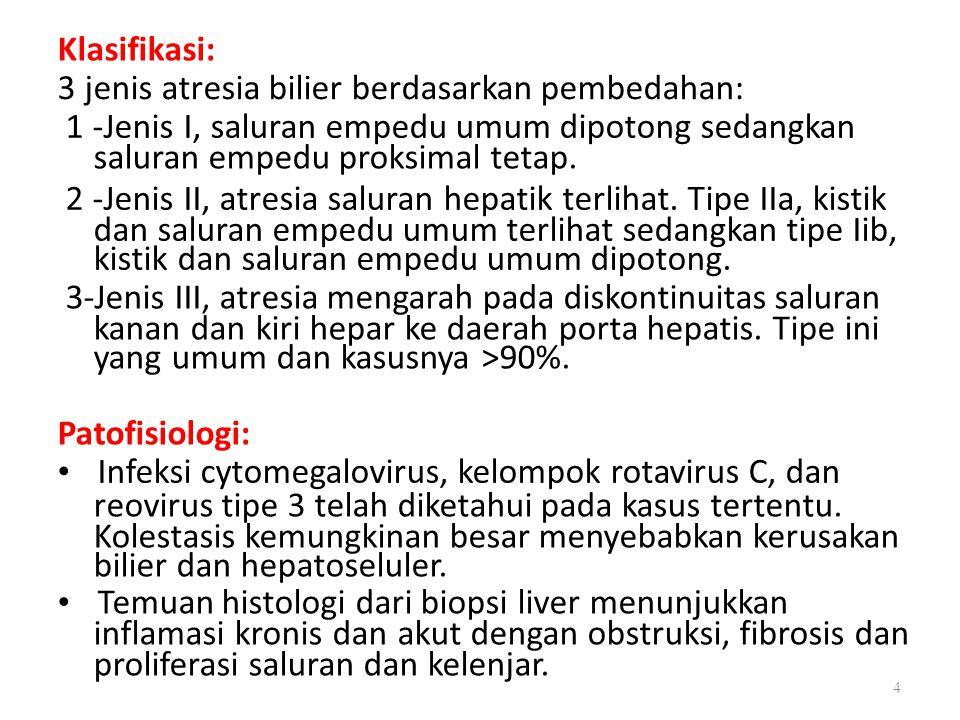 3 jenis atresia bilier berdasarkan pembedahan: