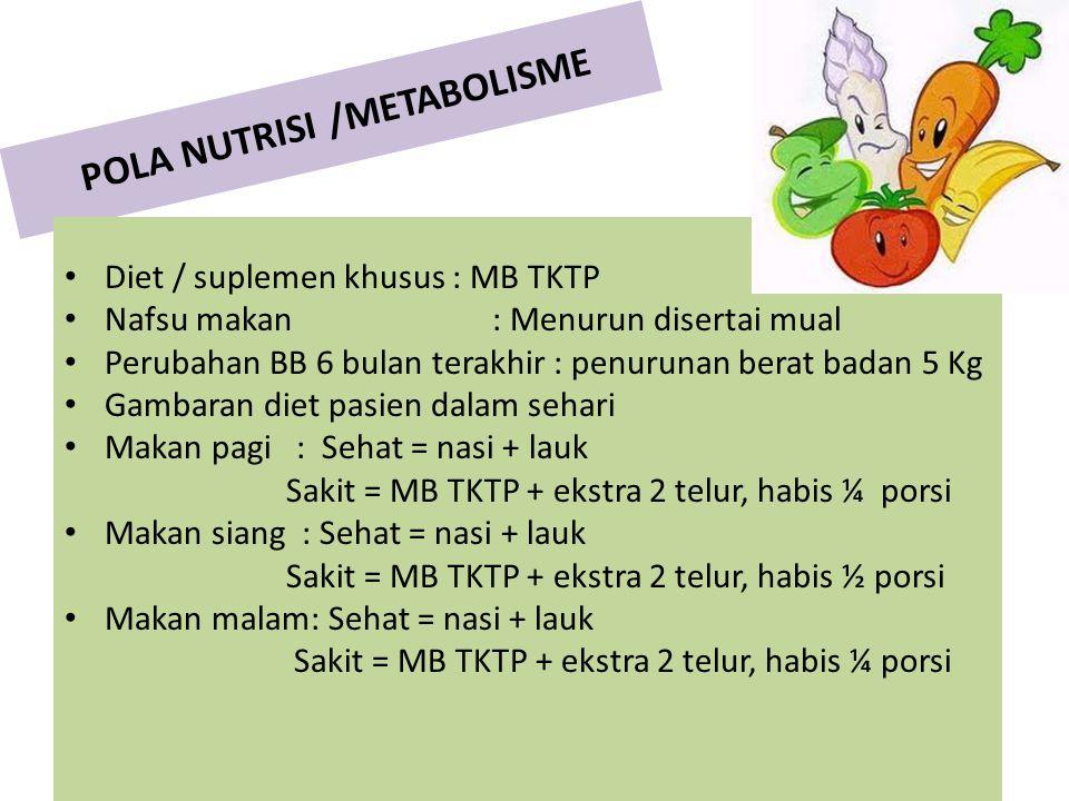 POLA NUTRISI /METABOLISME