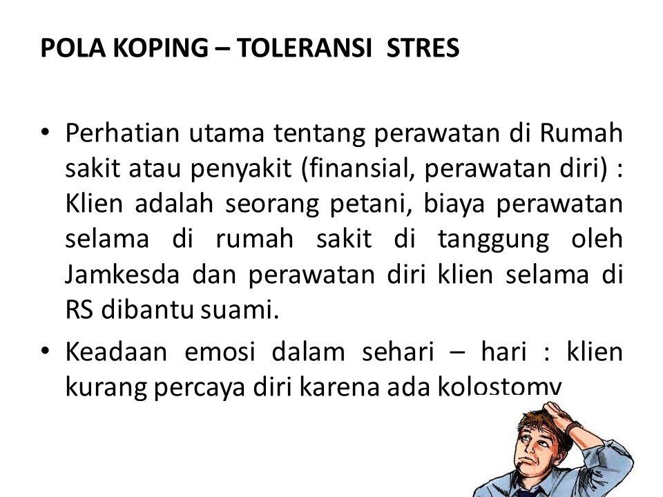 POLA KOPING – TOLERANSI STRES