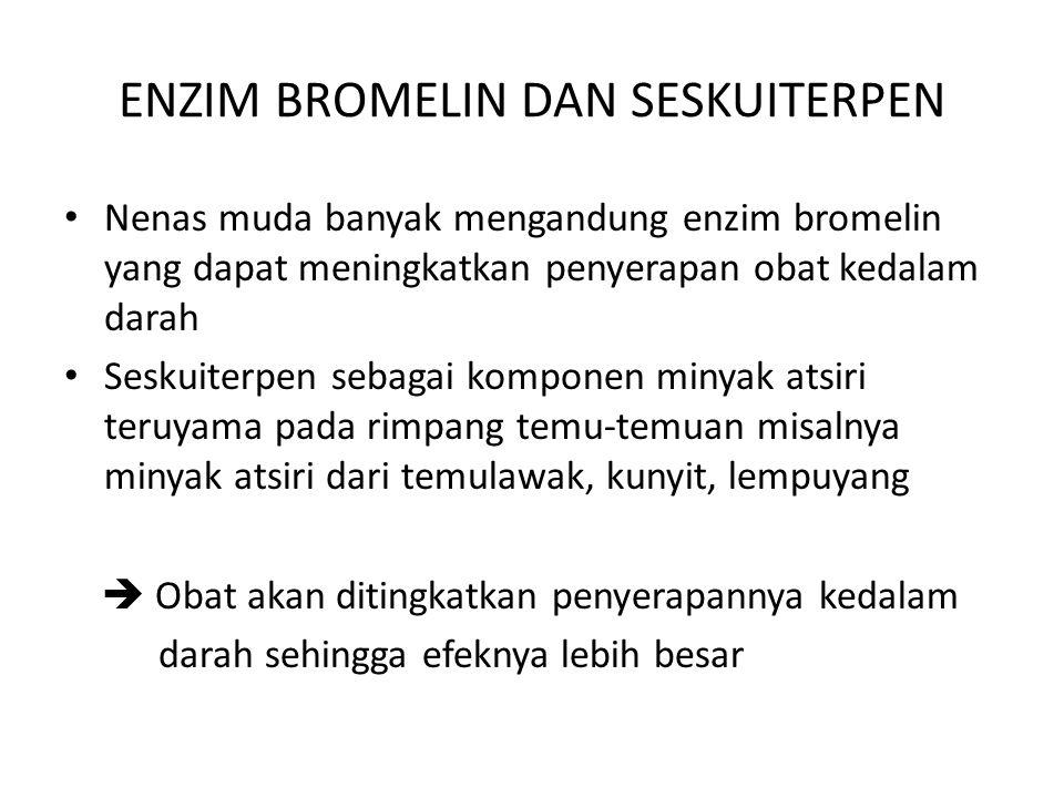 ENZIM BROMELIN DAN SESKUITERPEN