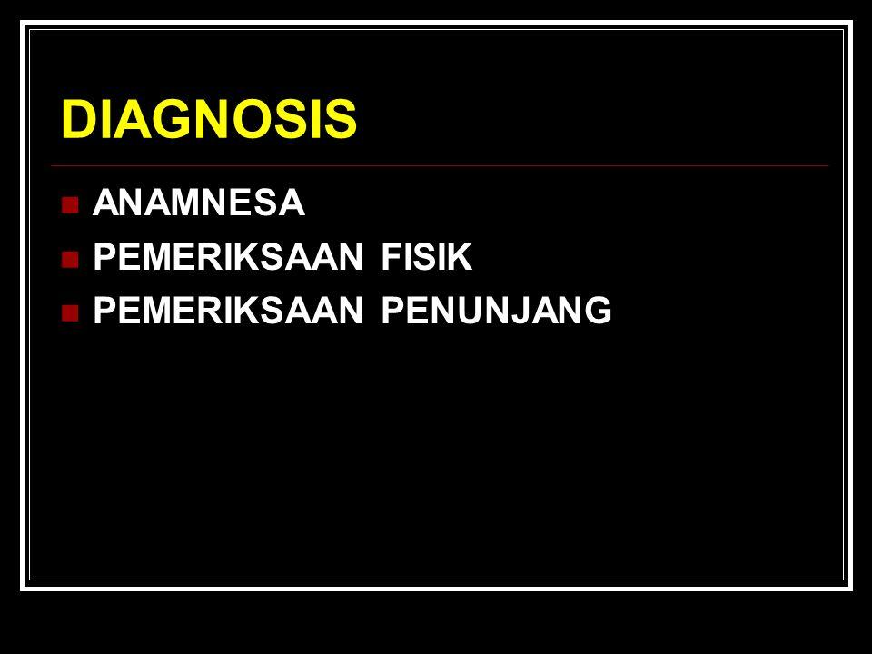 DIAGNOSIS ANAMNESA PEMERIKSAAN FISIK PEMERIKSAAN PENUNJANG
