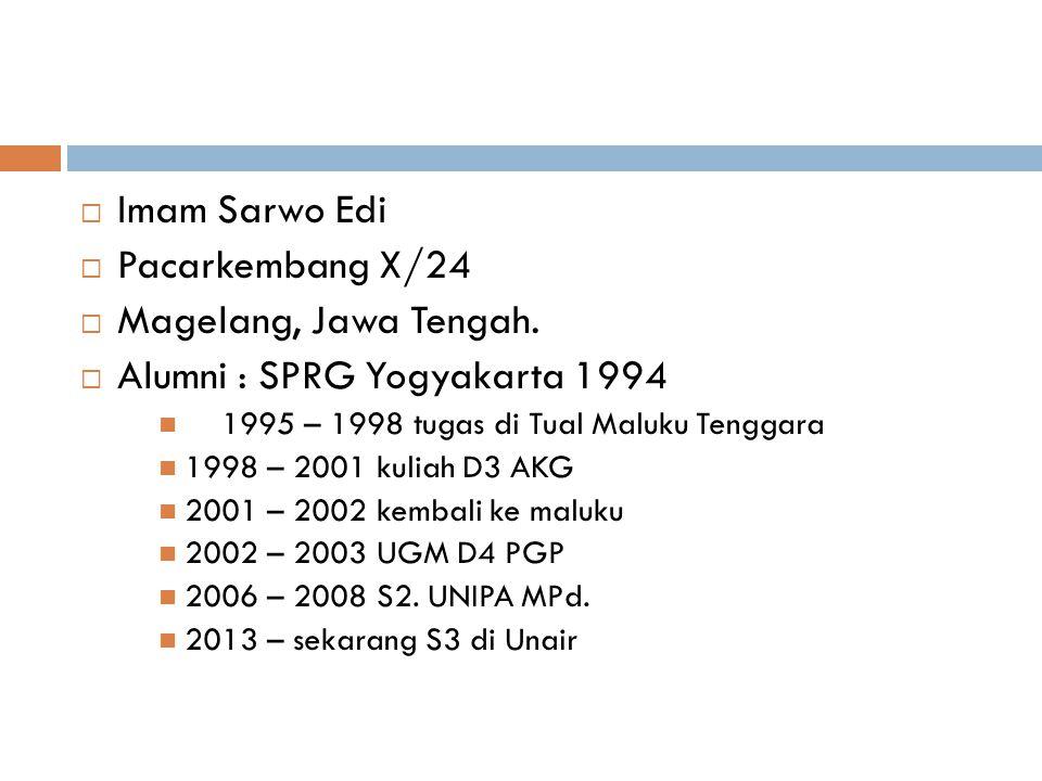 Alumni : SPRG Yogyakarta 1994