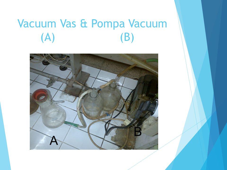 Vacuum Vas & Pompa Vacuum (A) (B)