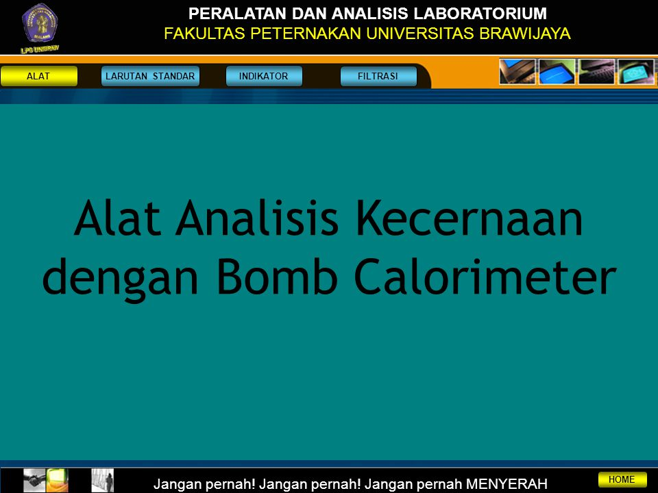 Alat Analisis Kecernaan dengan Bomb Calorimeter