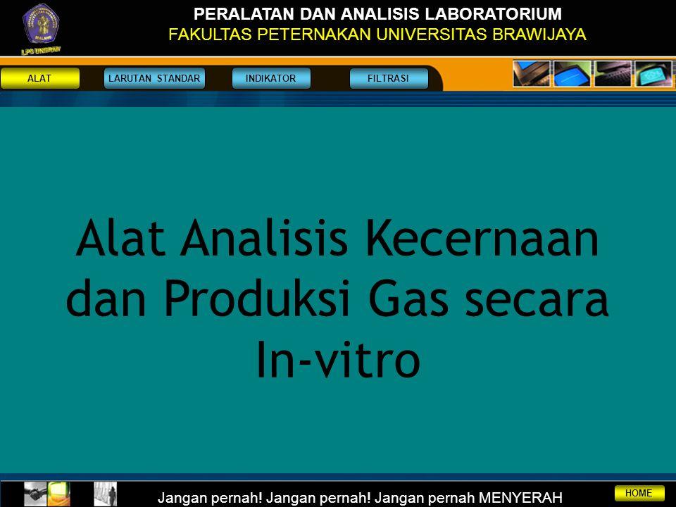 Alat Analisis Kecernaan dan Produksi Gas secara In-vitro