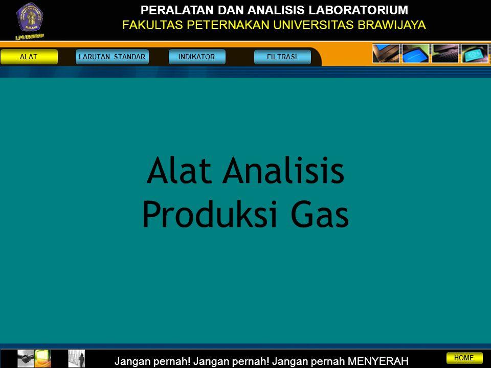 Alat Analisis Produksi Gas