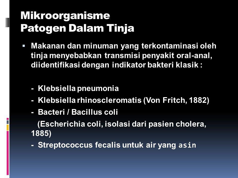 Mikroorganisme Patogen Dalam Tinja