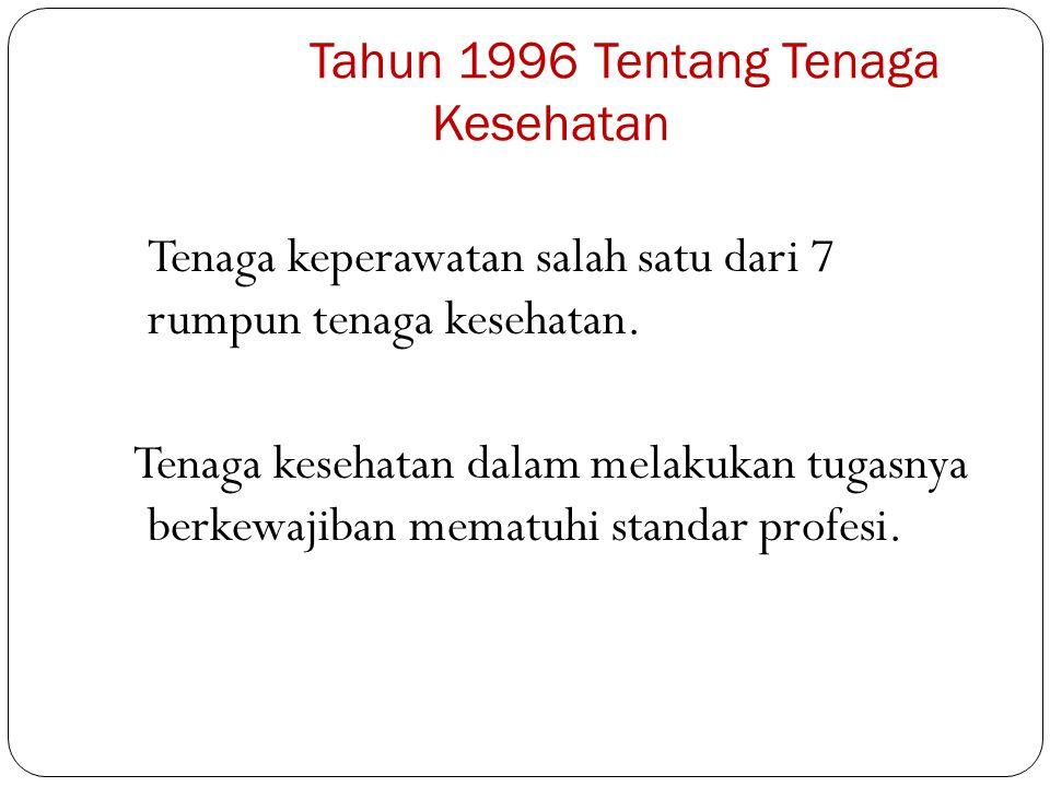 PP 32 Tahun 1996 Tentang Tenaga Kesehatan