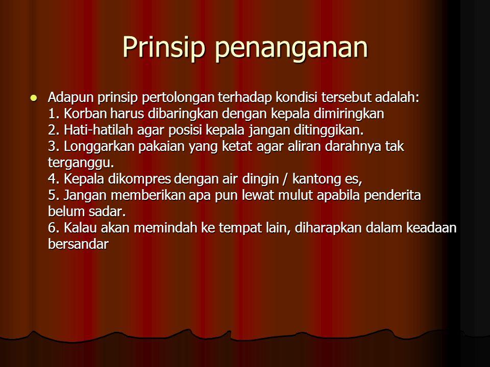 Prinsip penanganan