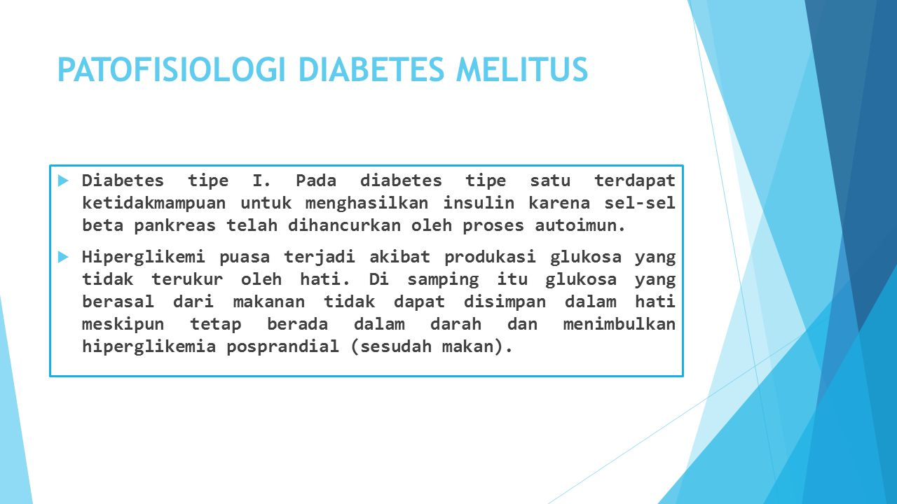 PATOFISIOLOGI DIABETES MELITUS