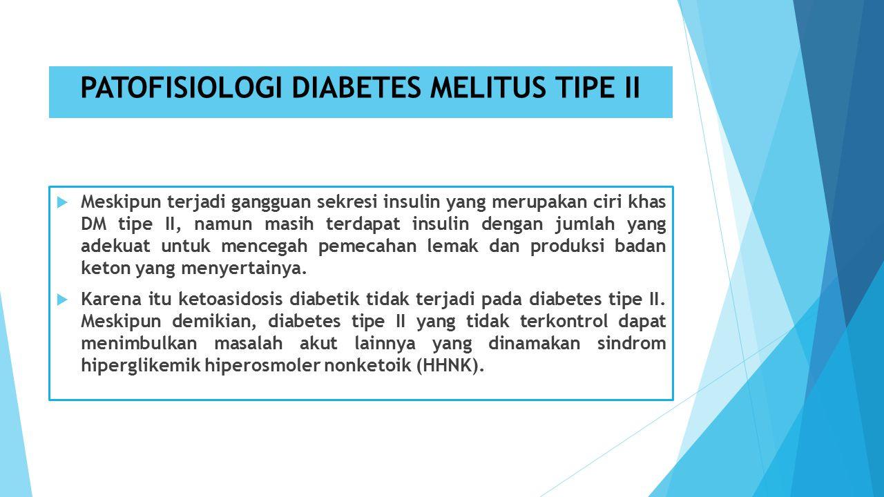 PATOFISIOLOGI DIABETES MELITUS TIPE II