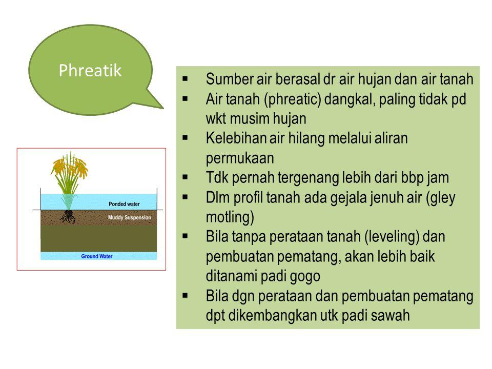 Phreatik Sumber air berasal dr air hujan dan air tanah