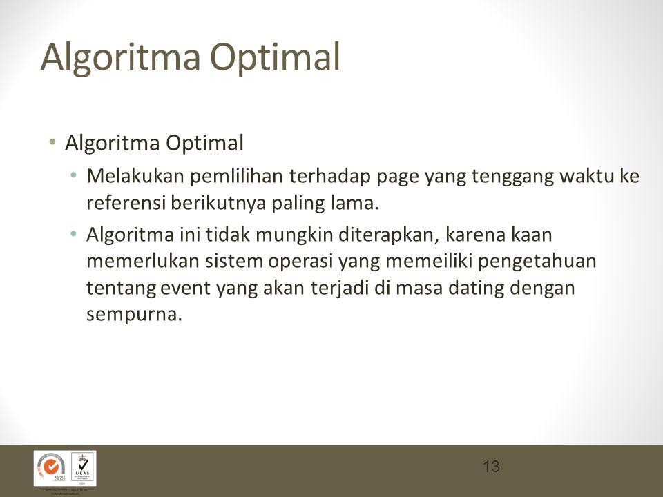 Algoritma Optimal Algoritma Optimal
