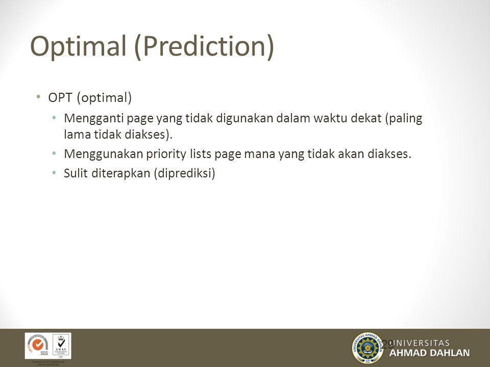 Optimal (Prediction) OPT (optimal)