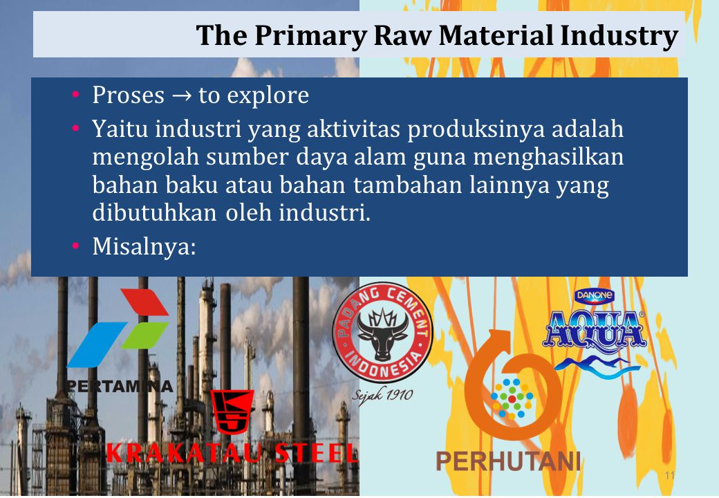 The Primary Raw Material Industry
