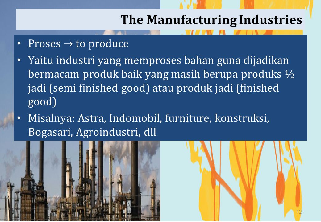 The Manufacturing Industries