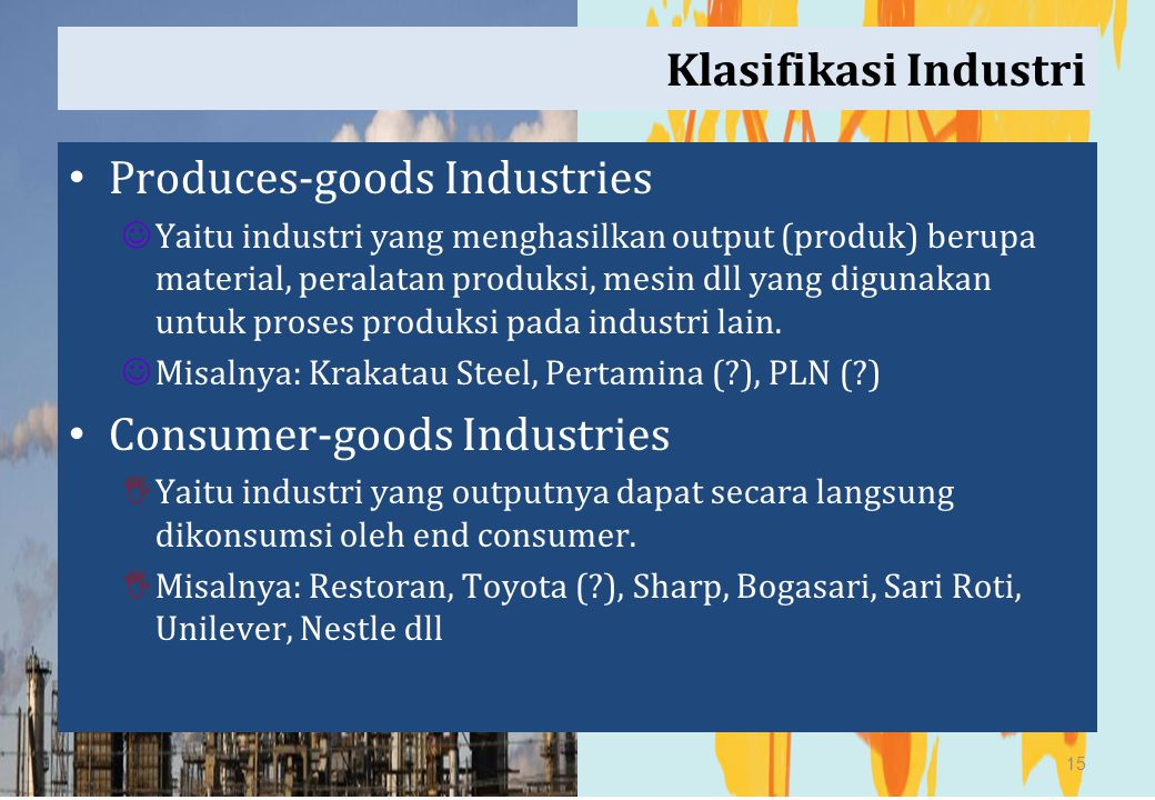 Produces-goods Industries