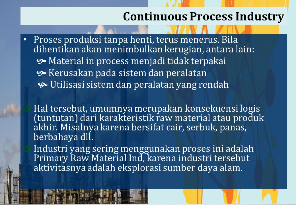 Continuous Process Industry