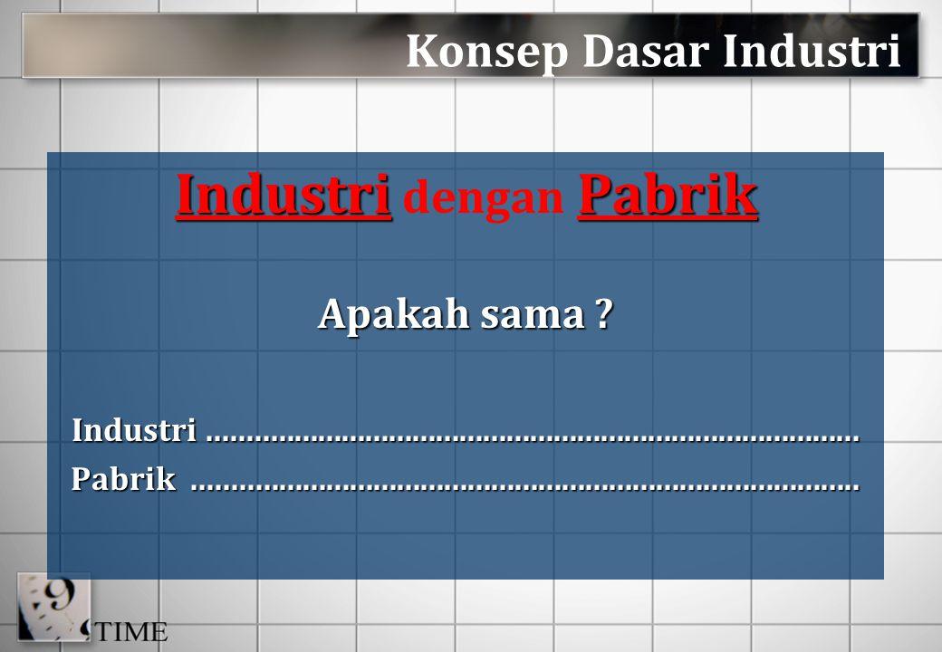 Industri dengan Pabrik